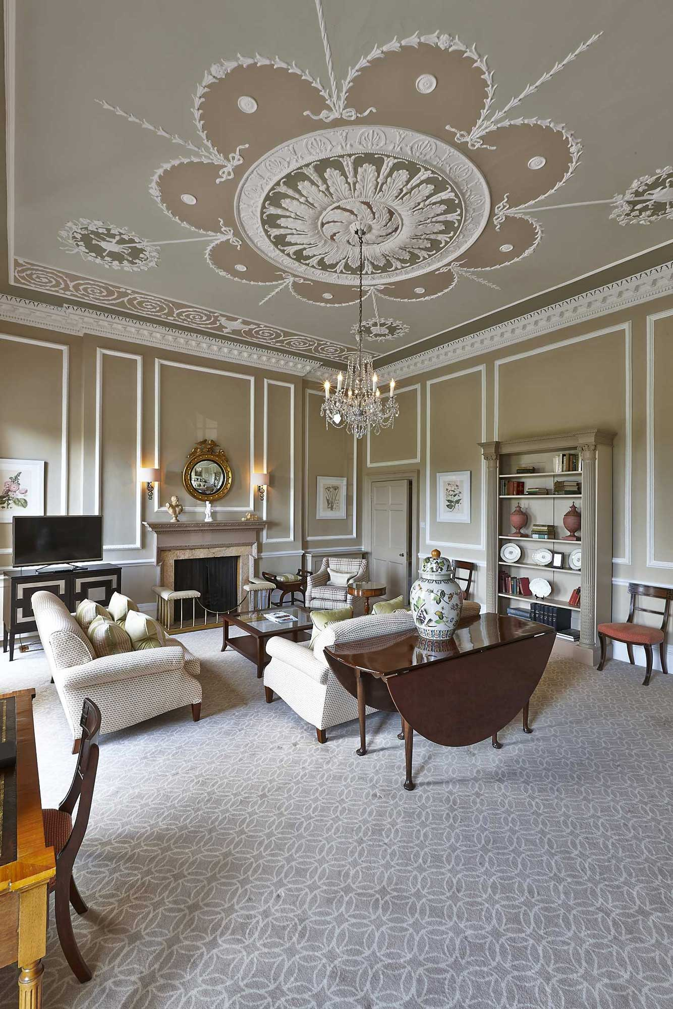Interior photograph of Sir Percy Blakeney Suite at Royal Crescent Hotel, Bath | London Hotel Photographer