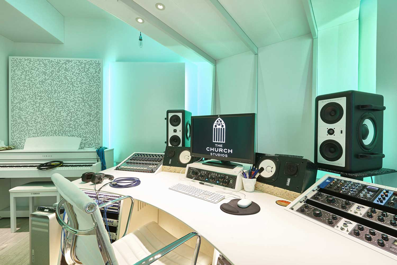 Church Recording Studio   Interior Photography London