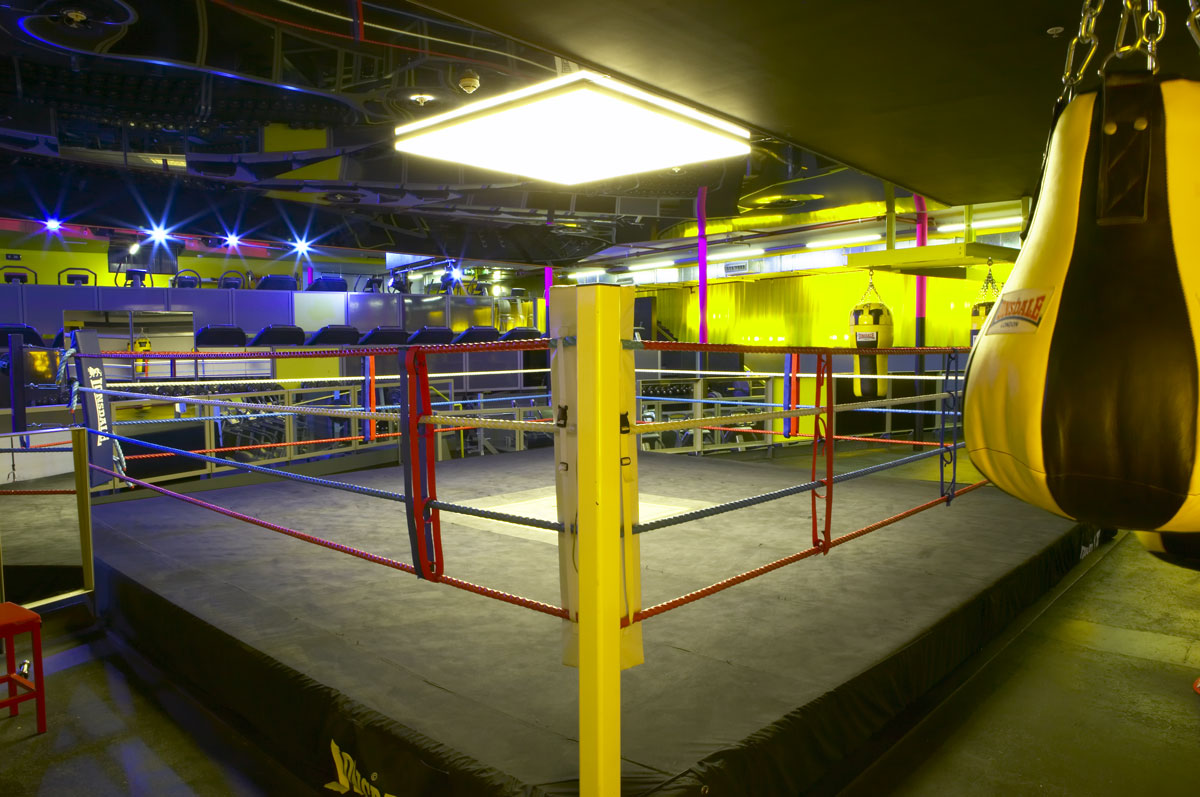 Gymbox Covent Garden ring   Photographer Interiors   Commercial Professional Photographer