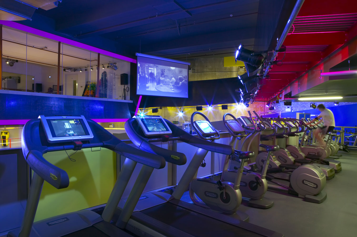 Gymbox Covent Garden, London spinning area   Photographer Interiors   Commercial Professional Photographer
