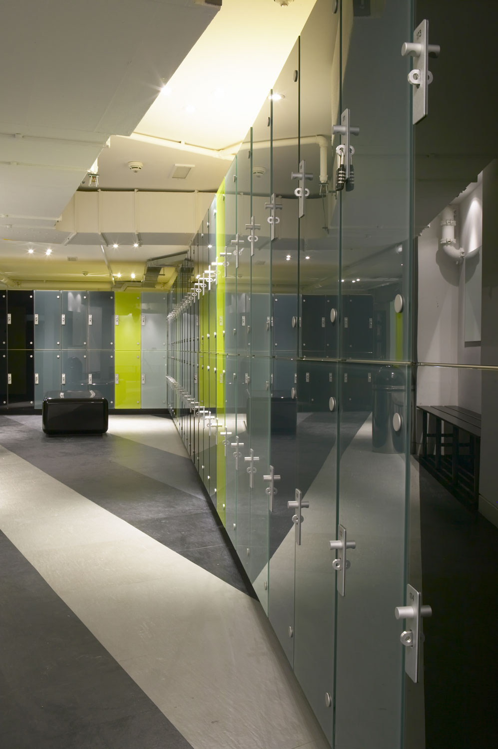 Gymbox Covent Garden, London luxury changing areas   Photographer Interiors   Commercial Professional Photographer