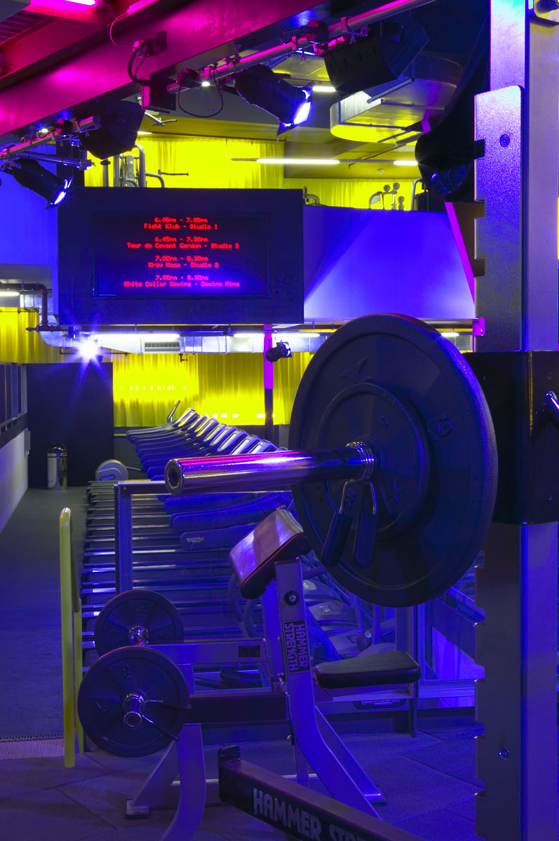 Gymbox Covent Garden, London free weights zone   Photographer Interiors   Commercial Professional Photographer