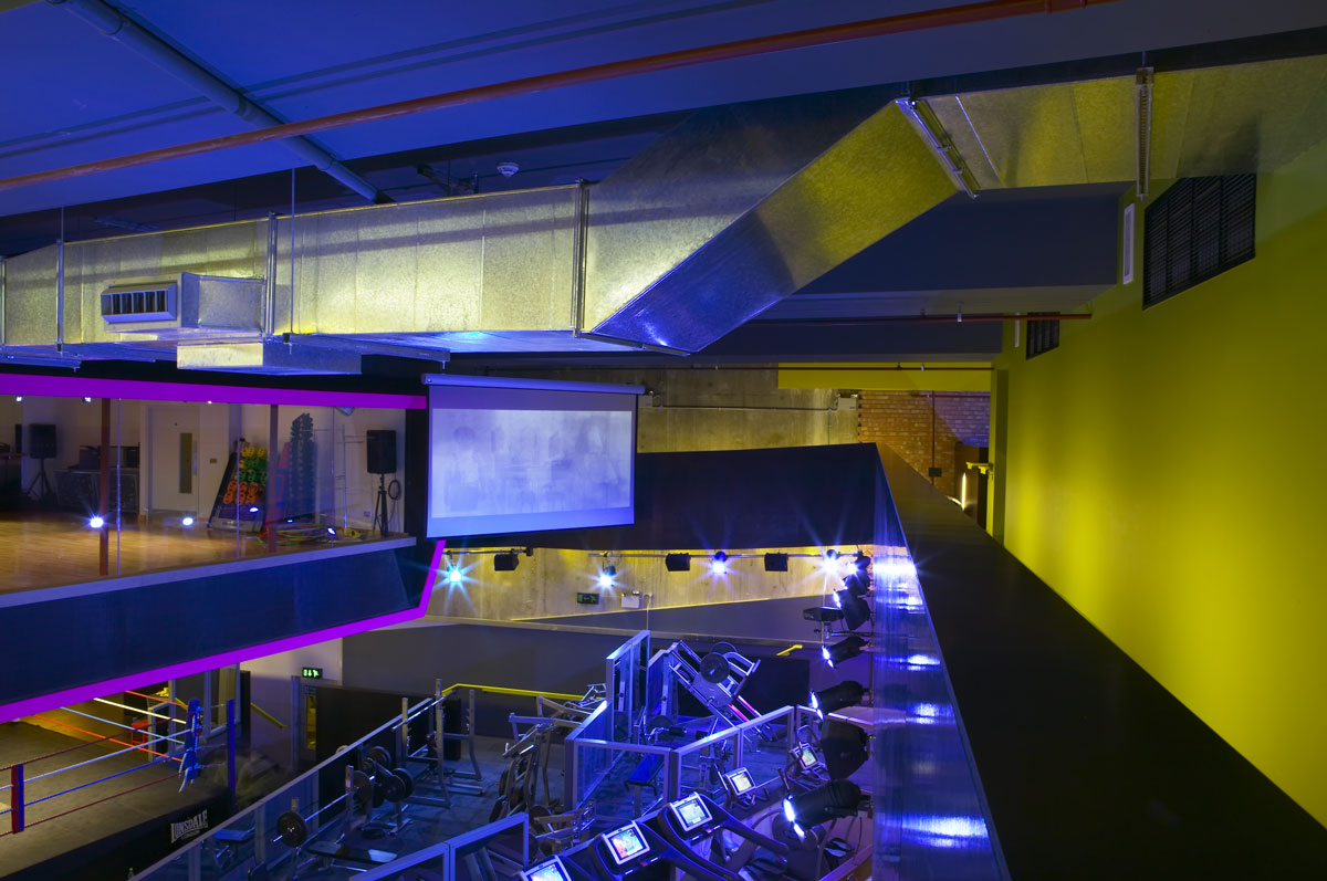 Gymbox Covent Garden, London upper gallery and dance studio| Interior Photographer | Commercial Photography