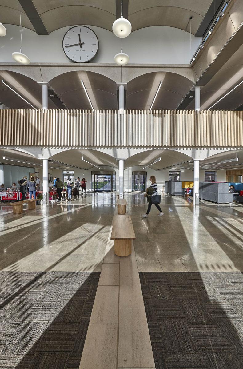 Nottingham Trent University Pavilion arched mezzanine   Interior Photographer   Interior Photography
