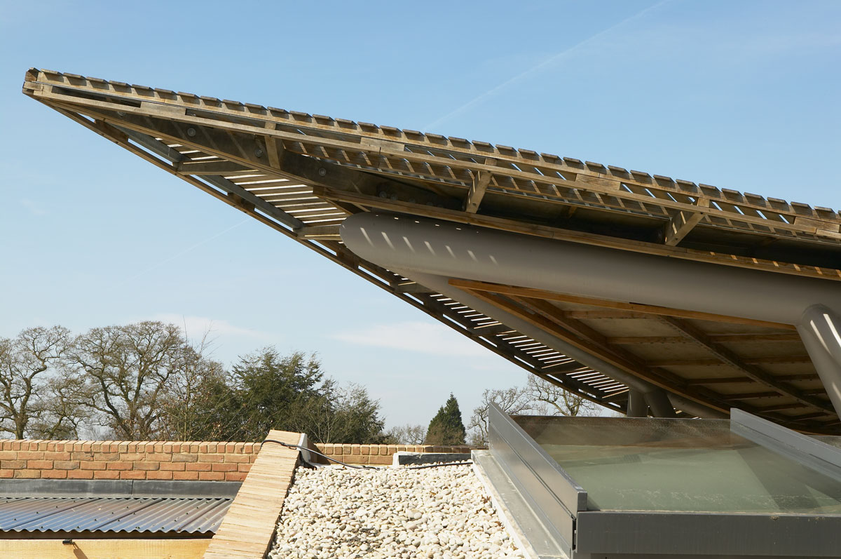 Savill Building Roof Detail, Windsor Great Park | Architectural Photographer London | Location Photographer