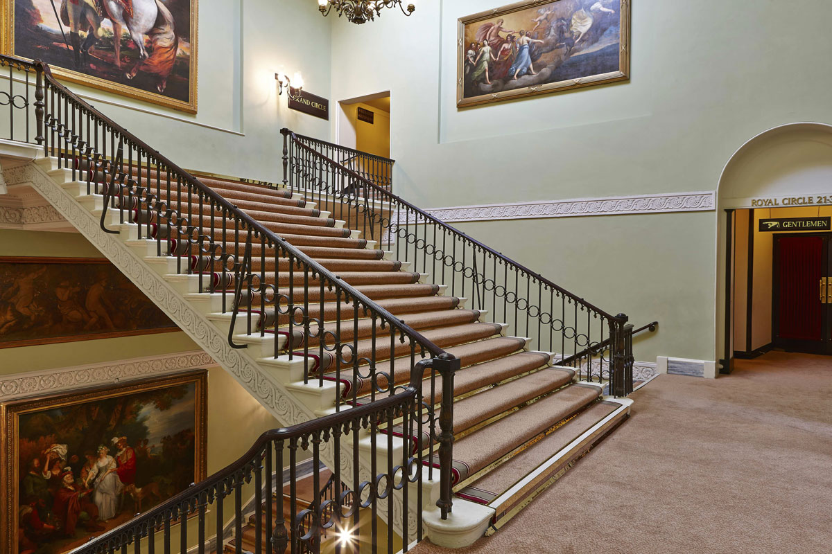 Theatre Royal Grand Staircase, Drury Lane London | London Interior Photography | Commercial Interiors Photographers