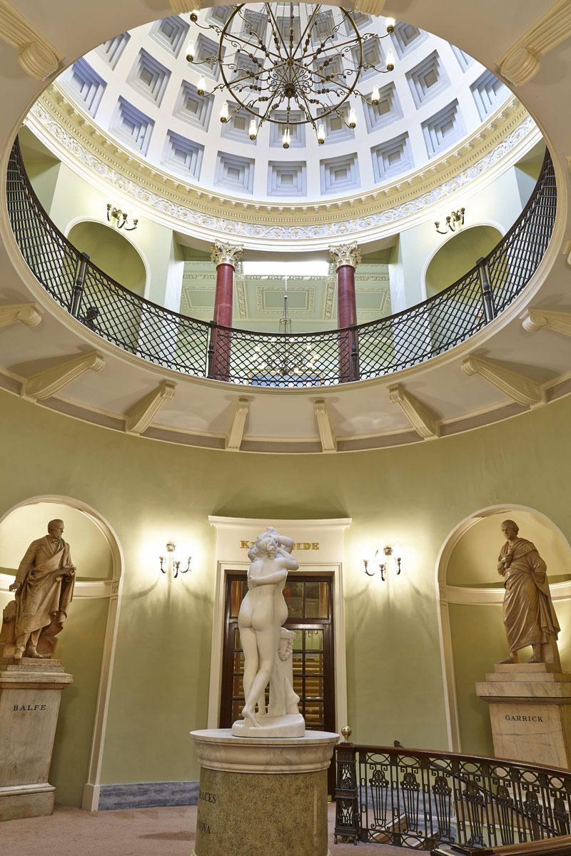 Theatre Royal Lower Rotunda Ceiling Detail, Drury Lane London | London Interior Photography | Commercial Interiors Photographers
