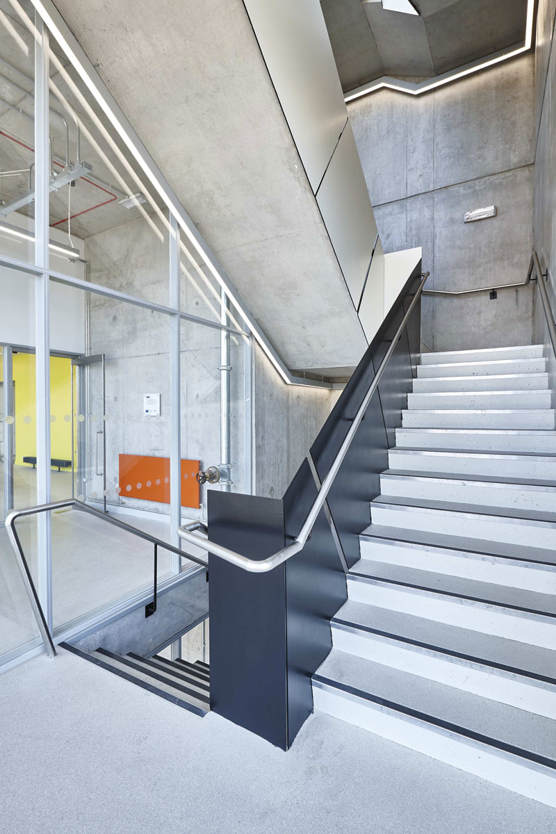 National Graphene Institute Stairwell, Manchester | Architectural Photographers London | Commercial Photography