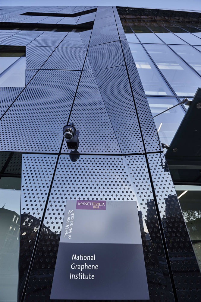 National Graphene Institute Frontage, Manchester   Architectural & Interior Photographer