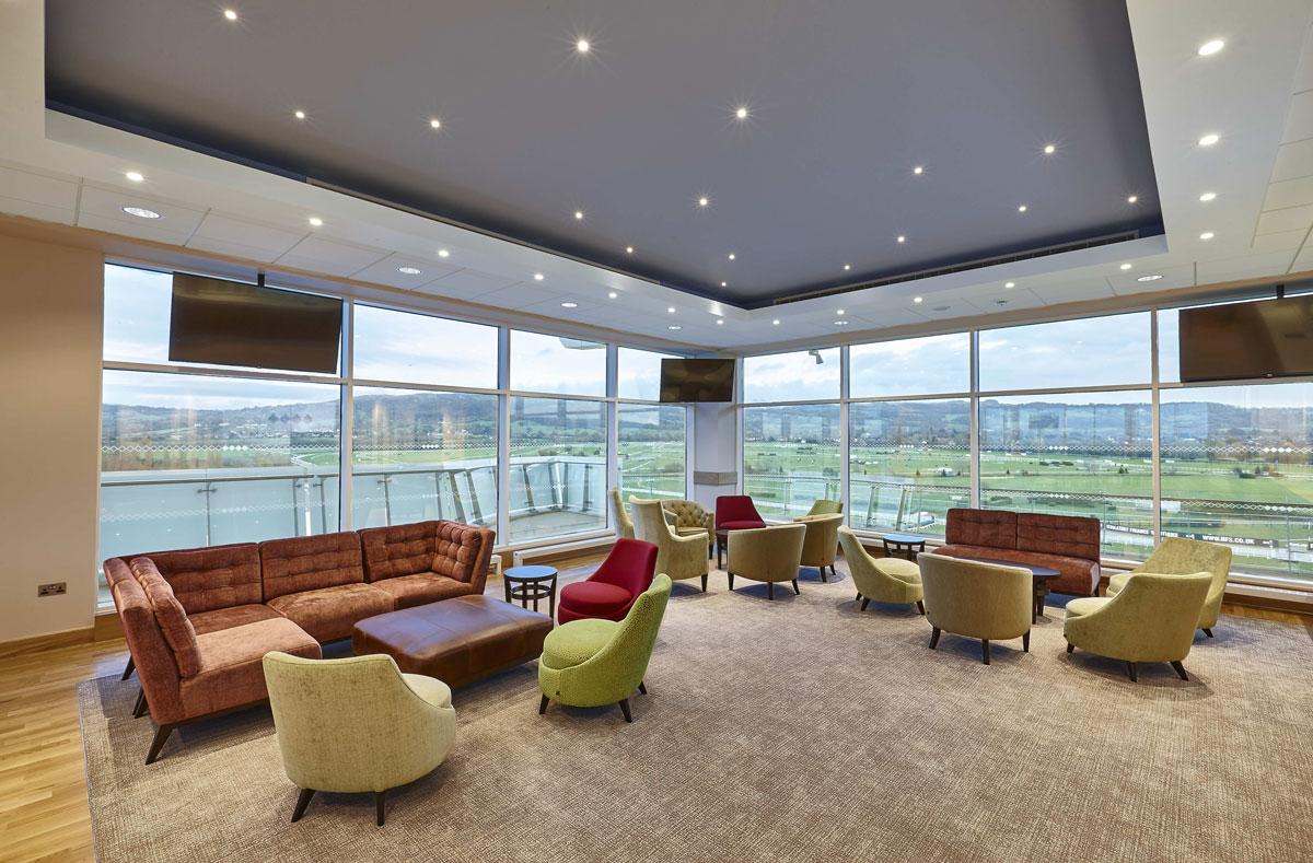 Princess Royal Grandstand Cheltenham Racecourse Royal Box | Interior and Architecture Photographer