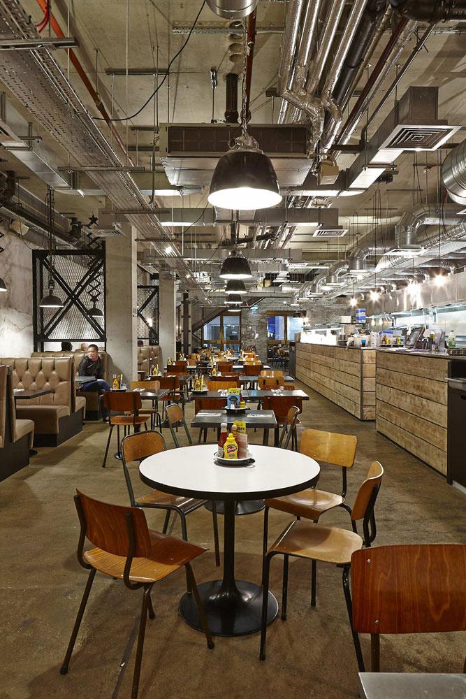 Byron Proper Hamburgers at the O2 Arena, Peninsula Square, London | Restaurant Photographer UK | Commercial Interiors Photographer