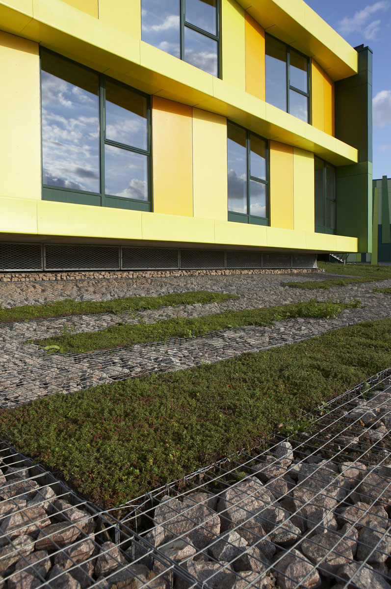 No. 1 Nottingham Science Park Gabions |Architectural Photography London