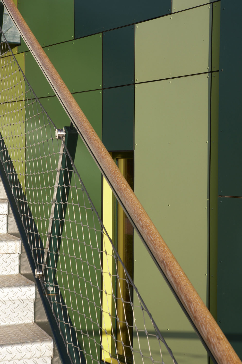 No. 1 Nottingham Science Park staircase and cladding detail | Architectural Photography London
