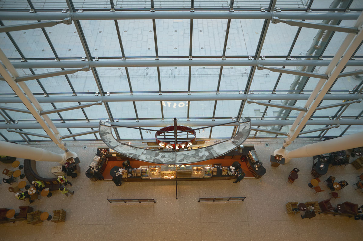 Heathrow Airport Terminal 5 glazed steel roof | Commercial Building Photographer