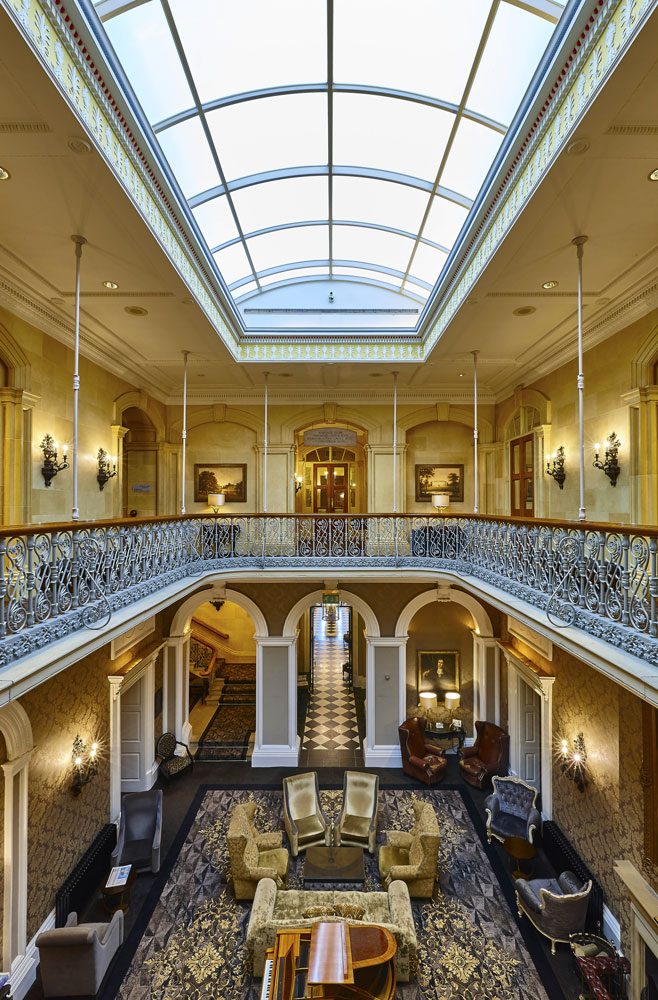 Hotel Photography of the grand hall at Oulton Hall Hotel, Leeds | Hotel Photographer